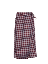 Vetements Checked Wraparound Pencil Skirt