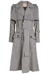 Maggie Marilyn Be Strong And Courageous Wool Trench Coat Multicolored