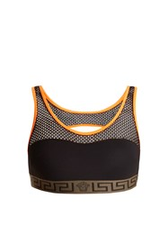 Versace Racer Back Performance Bra Black Multi