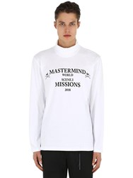 Mastermind World High Collar Missions Long Sleeve T Shirt White