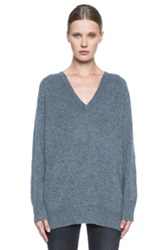 Equipment Asher Cashmere V Neck In Gray