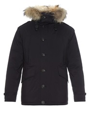 Burberry Down Filled Quilted Fur Trim Parka