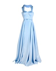 Musani Couture Long Dresses Sky Blue