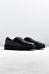 Puma Fenty By Rihanna Mens Cracked Leather Creeper Sneaker Black