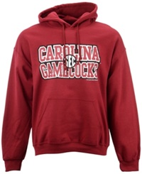 New World Graphics Men's South Carolina Gamecocks Distressed Name Hoodie Burgundy