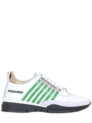 Dsquared 10Mm Striped Glitter Leather Sneakers