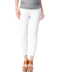 A Pea In The Pod Jeans Maternity Secret Fit Belly Skinny Jeans White Wash