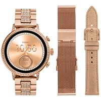 Fossil Q Ftw6011 'S Venture Crystal Bracelet Strap Touch Screen Smartwatch Rose Gold