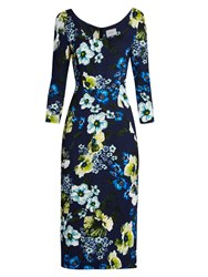 Erdem Tess Hasu Night Print Jersey Dress Navy Multi