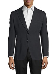 Tom Ford Cotton Peak Lapel Sport Coat Navy