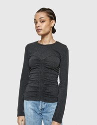 Which We Want Luna Top In Charcoal