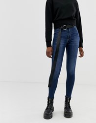 Cheap Monday High Spray Skinny Jeans Blue