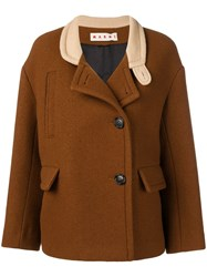 Marni Button Up Jacket Brown