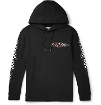 Mcq By Alexander Mcqueen Printed Flocked Loopback Cotton Jersey Hoodie Black