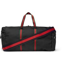Gucci Webbing Trimmed Coated Canvas Holdall Black