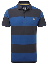Tog 24 Booth Stripe Short Sleeve Polo Shirt Blue