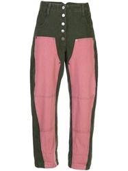 Rachel Comey High Rise Cropped Jeans Green