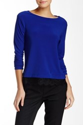 Cynthia Steffe Scalloped Lace Long Sleeve Tee Blue