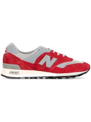 New Balance Made In England Sneakers Men Leather Nylon 7 Red
