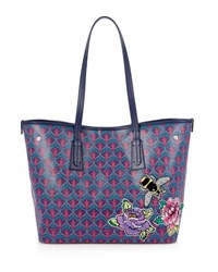 Liberty London Marlborough Iphis Trio Patches Tote Bag Navy