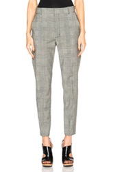 Toteme Le Chesne Trousers In Gray Checkered And Plaid