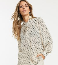 Y.A.S Printed Blouse With Volume Sleeve Multi