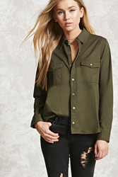 Forever 21 Snap Button Shirt