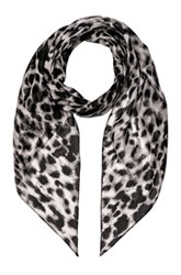 Saint Laurent Silk Animalier Scarf In Animal Print Gray Animal Print Gray