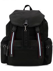 3d74c1a4b0 Bally Stripe Detail Backpack Black