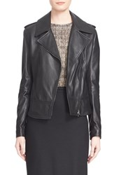 Women's Max Mara 'Ginepro' Lambskin Leather Jacket