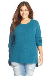 Tart Merino Wool Crewneck Sweater Plus Size Emerald
