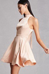 Forever 21 Satin Halter Dress
