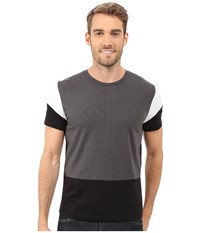 Kenneth Cole Sportswear Color Block Tee Black Combo Men's T Shirt