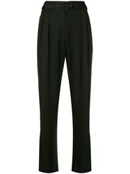 A.P.C. Belted Regular Fit Trousers Black
