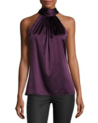 Ramy Brook Paige Halter Top Merlot