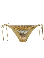 Mc2 Saint Barth Elea Bikini Bottoms Gold