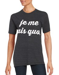 Private Party Je Ne Sais Quoi Tee Dark Grey
