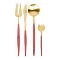 Cutipol Goa Cutlery Set 24 Piece Red Gold