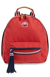 Tory Burch Preppy Canvas Backpack Red
