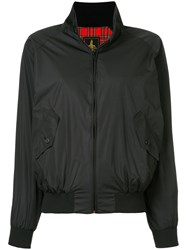 Hysteric Glamour Stand Up Collar Bomber Jacket Polyester Rayon Black