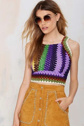 Nasty Gal After Party Vintage Mila Crochet Top