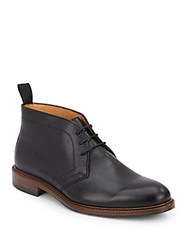 Saks Fifth Avenue Made In Italy Leather Chukka Boots Black
