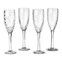 Pols Potten Clear Cuttings Champagne Glass Set Of 4