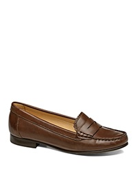 Jack Rogers Quinn Penny Loafers Dark Brown