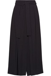 The Row Skannt Belted Pleated Wide Leg Pants Midnight Blue