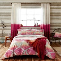 Clarissa Hulse Filix Coral Duvet Cover Red