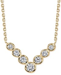 Sirena Energy Diamond V Necklace 1 Ct. T.W. In 14K Yellow Gold Or White Gold