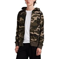 Atm Anthony Thomas Melillo Camouflage Cotton Zip Front Hoodie Green