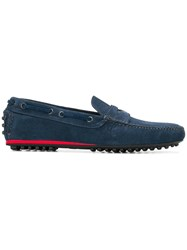 Car Shoe Pebbled Sole Loafers Blue