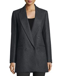 Michael Kors Collection Double Breasted Wool Boyfriend Jacket Charcoal Grey Women's Size 8
